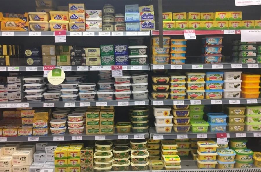 イギリスのスーパー、乳製品