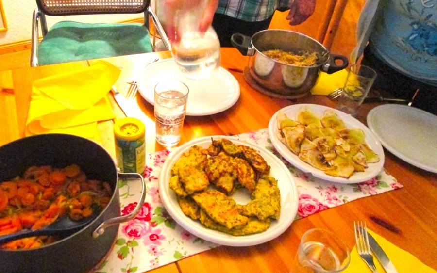 ホームステイ先での家庭料理