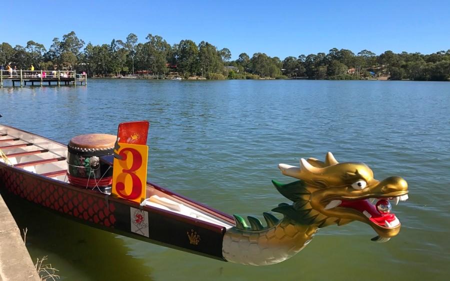 大会に使用したドラゴンボート