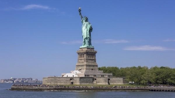 アメリカの観光地、自由の女神(ニューヨーク)