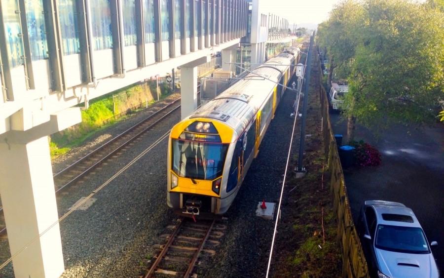ニュージーランド・オークランドの電車