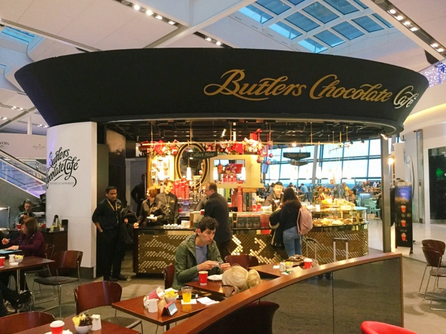 ダブリン国際空港のButler'sのカフェ