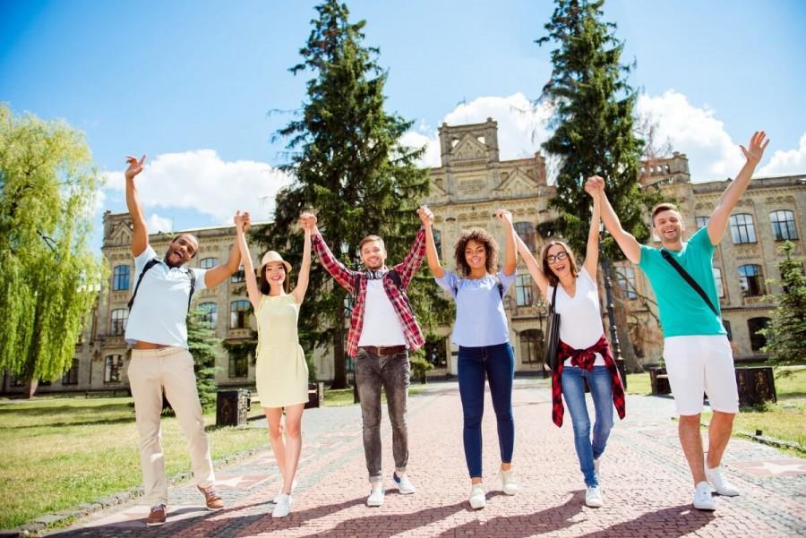 楽しむ留学生