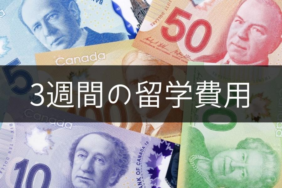 カナダ 留学 費用 3週間