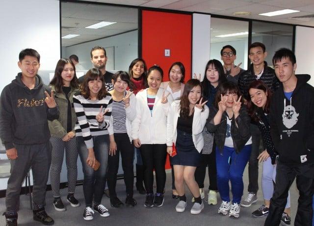 世界各国からの留学生と一緒に勉強ができる!