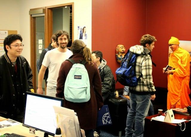 国際色豊かなキャンパスで多様な留学生と交流できる