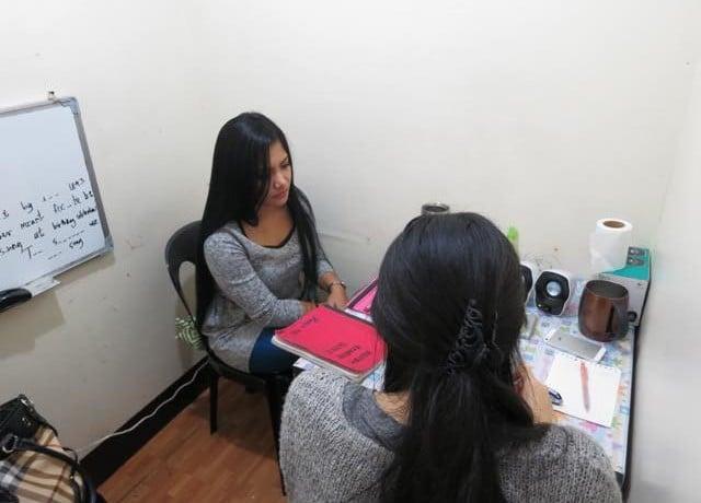 教師と近い距離で勉強でき、英語の定着が捗る!