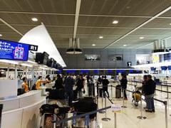 マルタ航空のチェックインカウンター